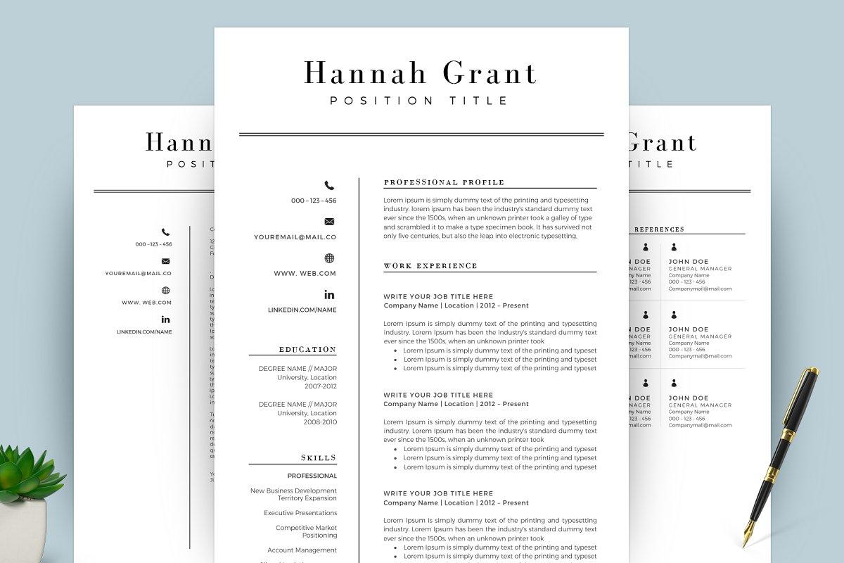 Clean Resume/CV Template Word ~ Resume Templates ~ Creative ...