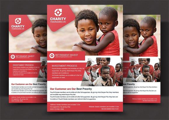 charity fundraisers flyer templates flyer templates creative market