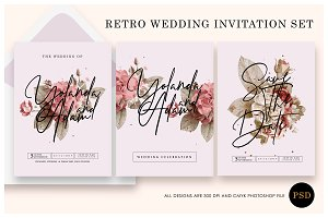 Retro - wedding invitation Ac.26