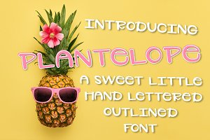 Plantelope - Outlined Font
