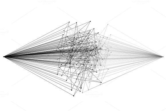 Wires. Digital data computer network