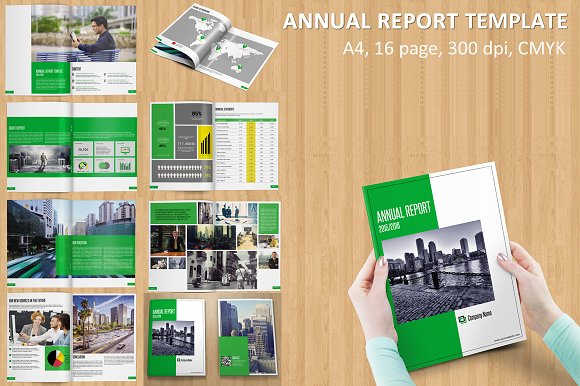 annual report template v115 brochure templates on creative market. Black Bedroom Furniture Sets. Home Design Ideas