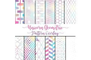Unicorn Geometric Pattern Overlay