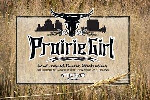 Prairie Girl Linocuts