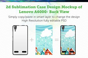 Lenovo A6000 2d Sublimation Mock-up