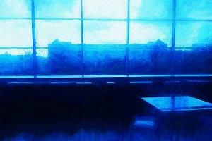 Night blue cafe illustration backgro
