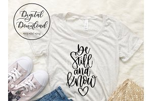 be still and know heart design file