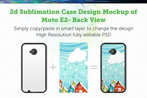 Moto E2 2d Sublimation Mock-up