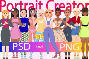Character portrait creator (PSD)