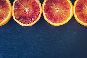 Sliced blood oranges texture