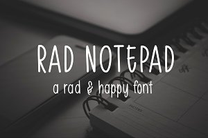 Rad Notepad - A Hand Lettered Font