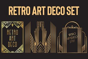 Retro Art Deco Set