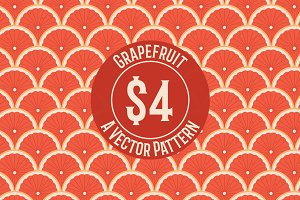 Grapefruit Seamless Repeat Pattern