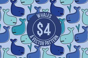 Whale Seamless Repeat Pattern