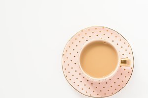 Stock Photo - Pink & Gold Teacup II