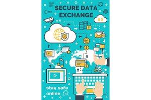 Vector poster secure data exchange