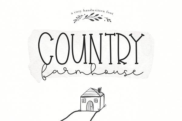 Script Fonts: KA Designs - Country Farmhouse - Script Duo Font