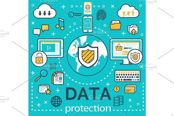 Poster internet data protection
