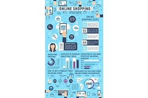 Vector infographics online shopping