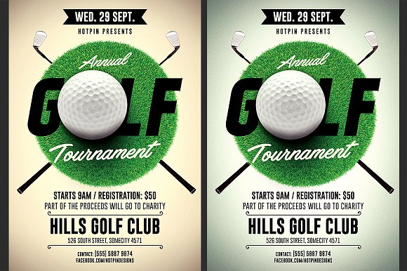 Golf Tournament Flyer Bundle Flyer Templates Creative Market