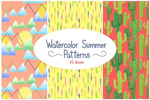 Watercolor Summer Patterns