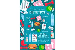 Medical poster dietetics medicine