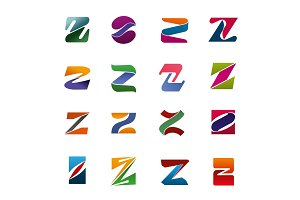 Vector letter Z icons for business