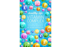 Poster of vitamins and multivitamins