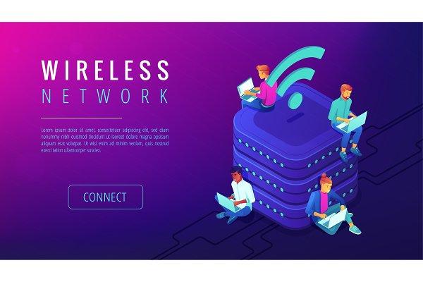 Isometric wireless network landing