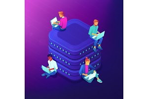 Network community isometric