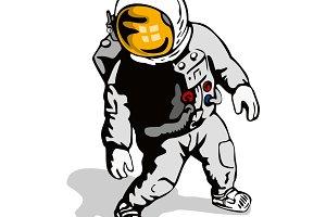 Astronaut Standing Retro