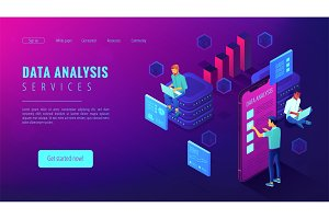 Data analysis services landing page