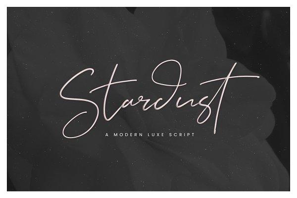 Stardust // A Modern Luxe Script