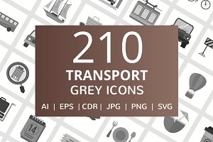 210 Transport Grey Icons