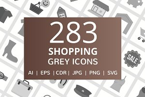 283 Shopping Grey Icons