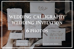 Wedding calligraphy and invitation