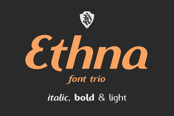 Display Fonts - Ethna font trio