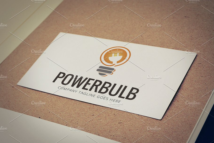 Power Bulb Logo Template in Logo Templates - product preview 8