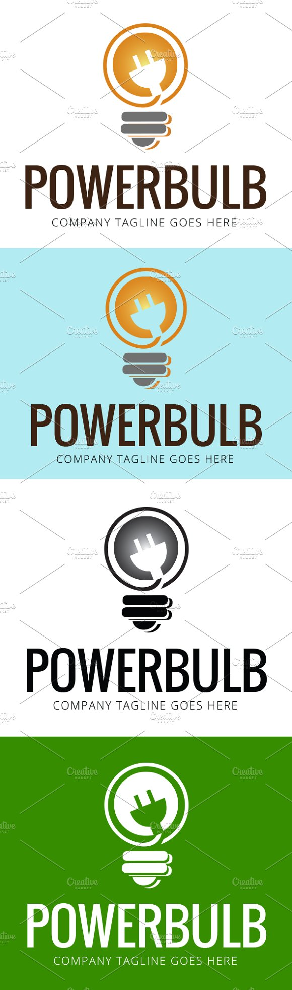 Power Bulb Logo Template in Logo Templates - product preview 1