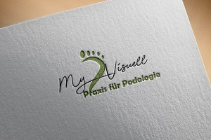 Podologie Feet Logo Design Spa
