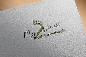Podologie Feet Logo Design Spa