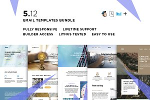 5 Email templates bundle XII