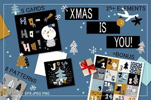 XMAS is YOU - vector collection