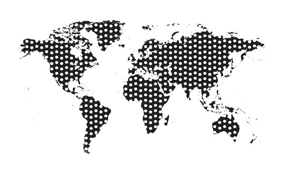 World map with dots black graphics creative market gumiabroncs Gallery