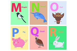 Children ABC with Cute Animals