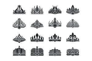 Royal Crowns with Unusual Design
