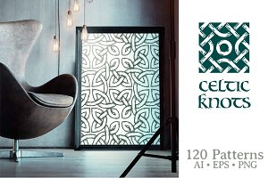 Celtic Knots Seamless Patterns