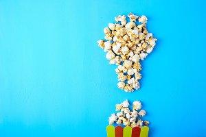 Sweet fried popcorn