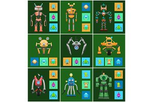 Robots Creatures Intellect Vector
