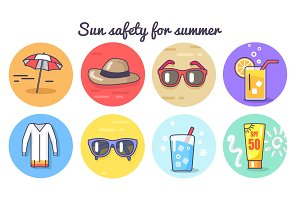 Sun Safety for Summer Poster Vector